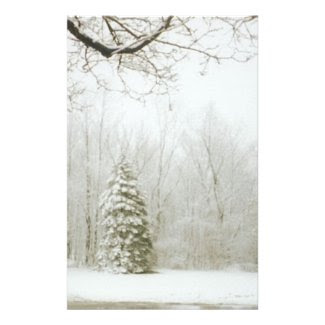 Winter's Trees Stationery