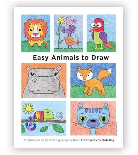 draw easy animals  art projects  kids bloglovin