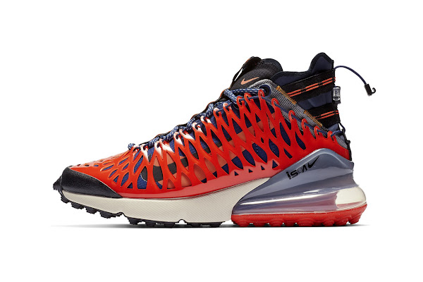"lowest price eb4f9 ad923 Nike Wraps Blue ISPA Air Max 270 SP SOE in ""Terra Orange"" Cage"