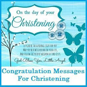 Congratulation Messages : Christening/Baptism