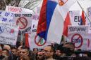 Kosovo Serbs protest Pristina's tariff