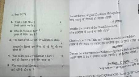 BHU's MA History paper asks questions on Padmavati, triple talaq