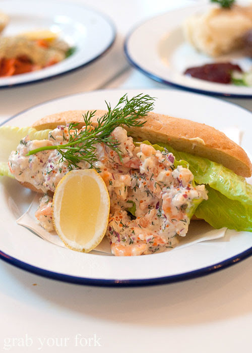 skagen prawn and crayfish sandwich at fika swedish kitchen cafe manly