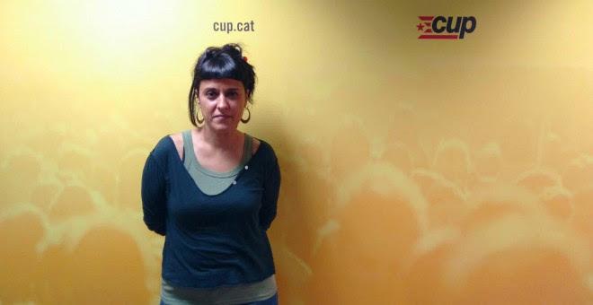 Anna Gabriel, aquest dimarts, a la seu de la CUP. GUILLEM AMATLLER
