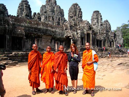 nicolekiss with bayon monks