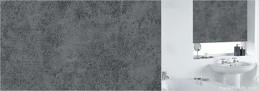 Luxury Grey Pattern Waterproof Roller Blinds for Bathroom Windows