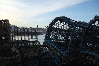 View through lobster pots into Donaghadee