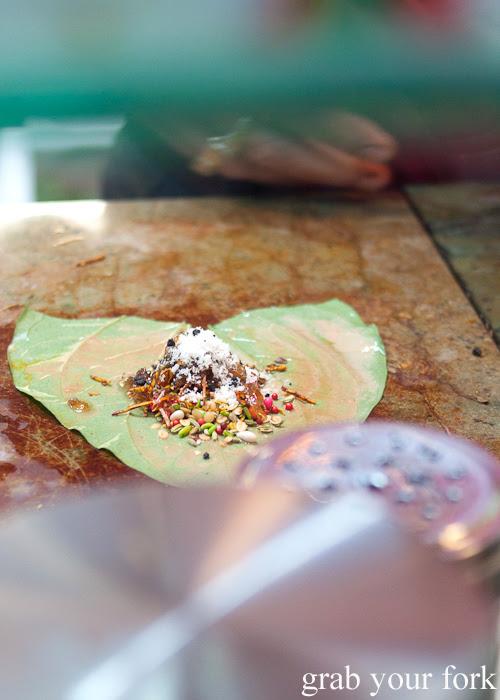 Meetha sweet paan at Durga Paan and Falooda House Harris Park