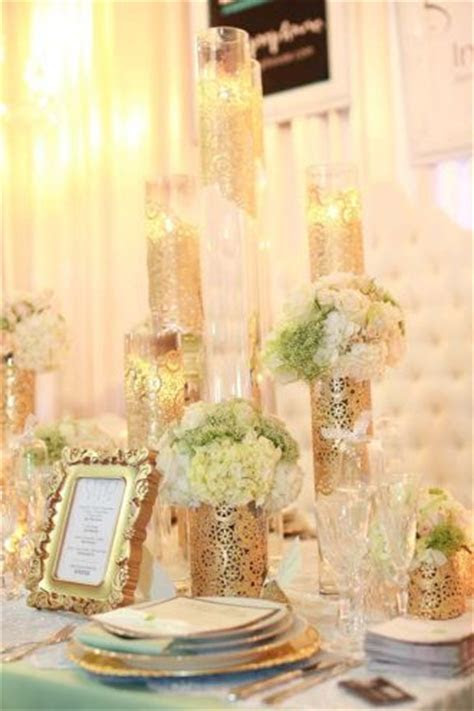 Spray doilies with silver instead & diy glass vases for a