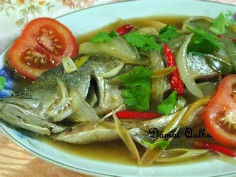 ikan siakap masak stim ala thai santapan timur  barat