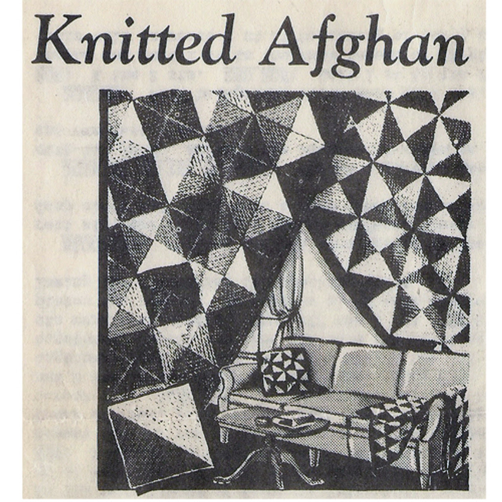Geometric Knitted Afghan Pattern, Alice Brooks 6542
