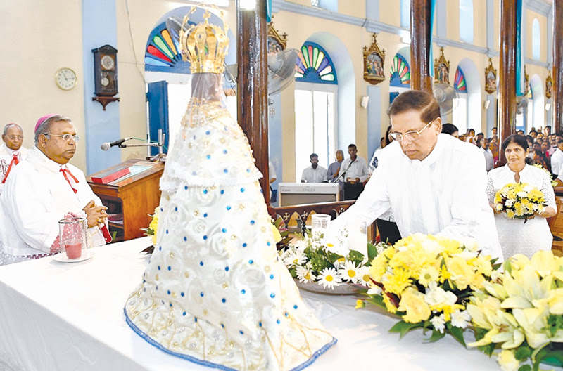President visits Shrine of Madhu