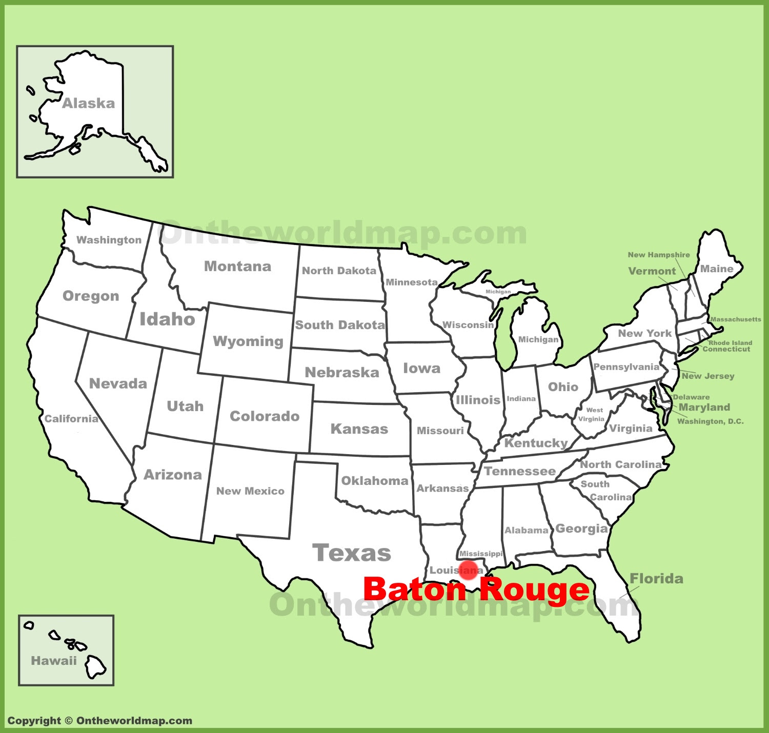 baton rouge location on the us map
