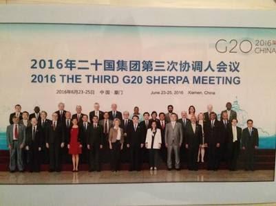 Elección por aclamación. Los sherpas del G20, reunidos en la provincia china de Xiamen