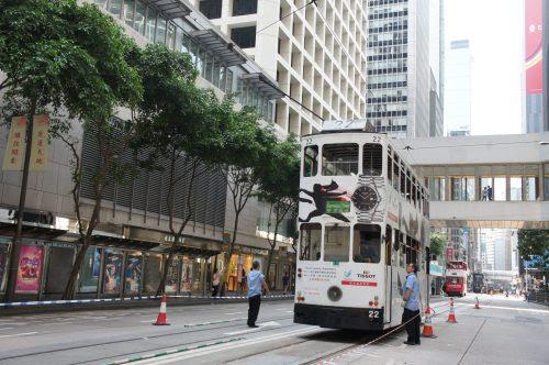 香港トラムは中環で折返し運転