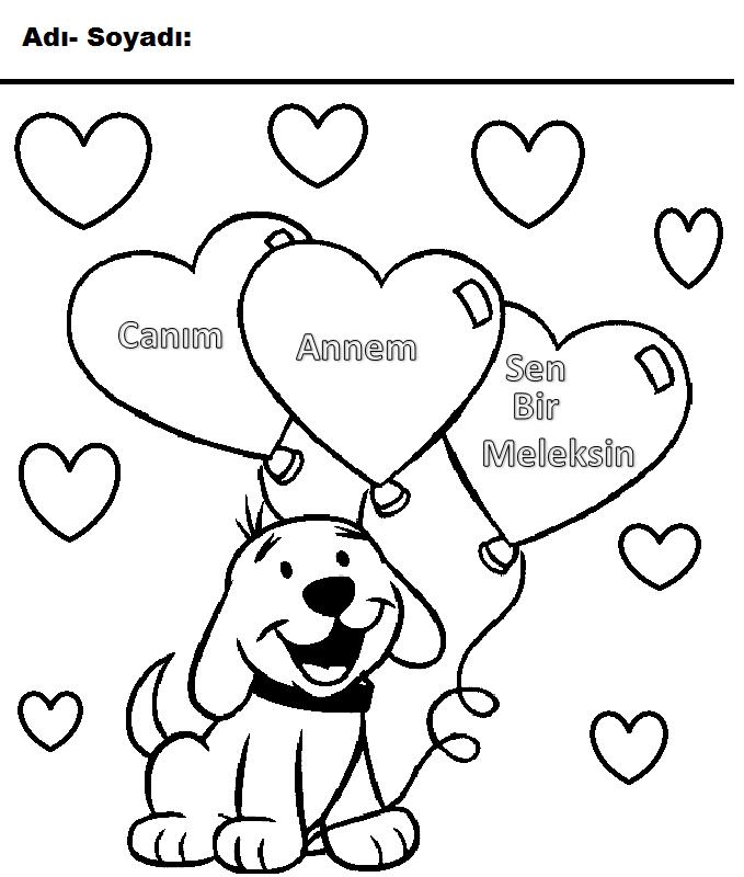 Anneler Günü Boyama Sayfaları Sayfa 2 4 Arabulokucom