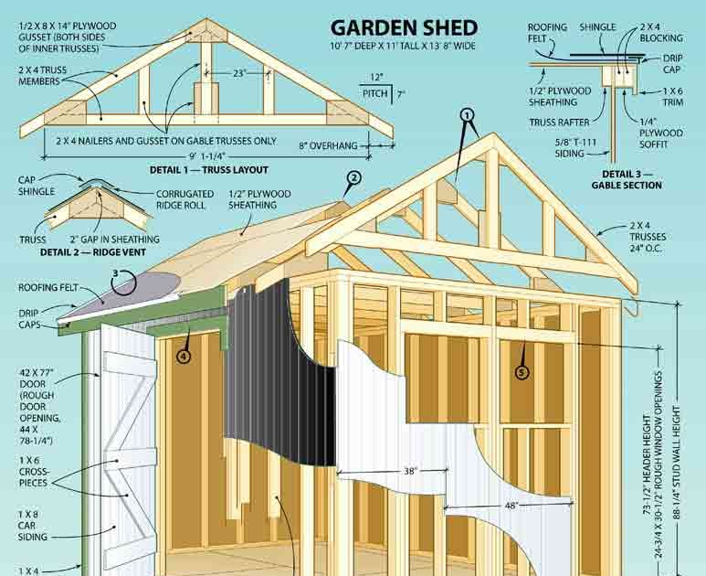 Sheds Ottors Diy 8x8 Shed Plans Salt