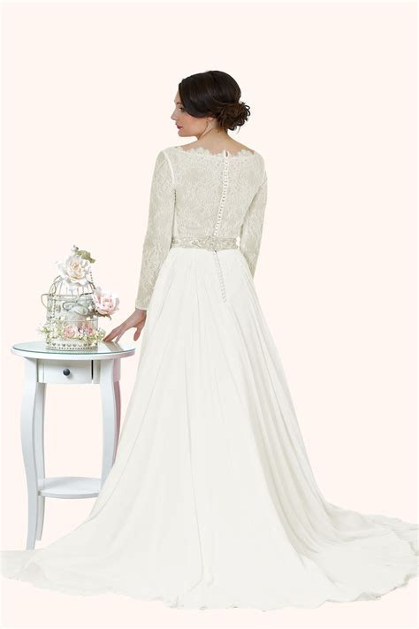 Victoria   Lace Wedding Dress With Long Sleeves