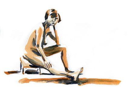 valerie sitting on stool