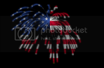 Beverly & Pack's 4th of July Flag and Firework graphic
