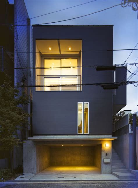 modern residence built  reinforced concrete  wood