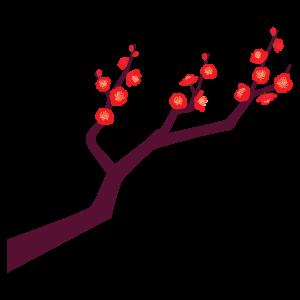梅の枝のイラスト12 花植物イラスト Flode Illustration フロデ