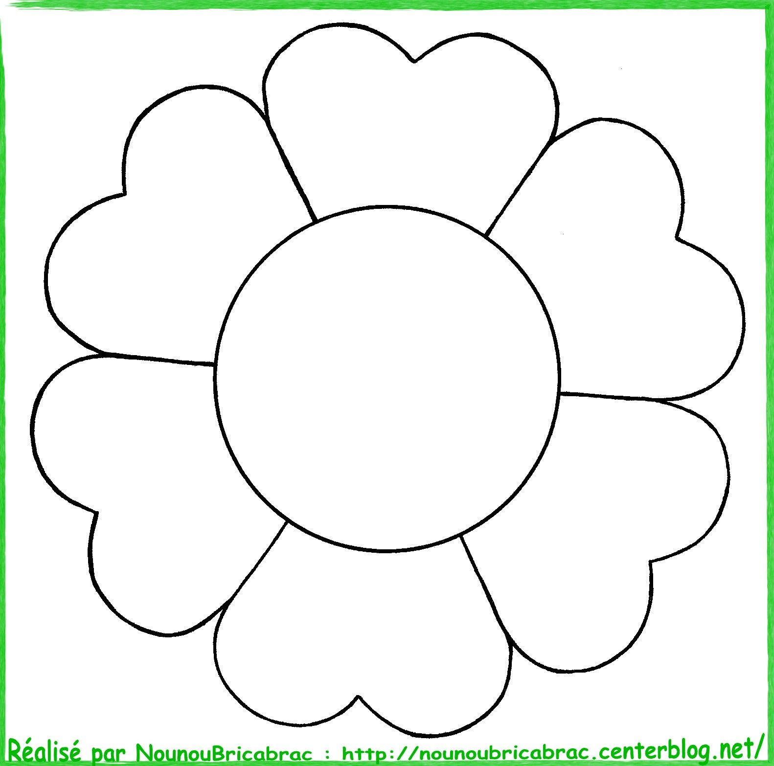 Fleur  colorier