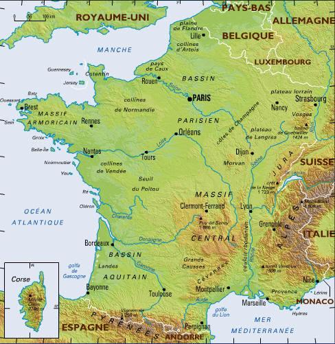 Etudions La Géographie Et Les Régions De France Le Français