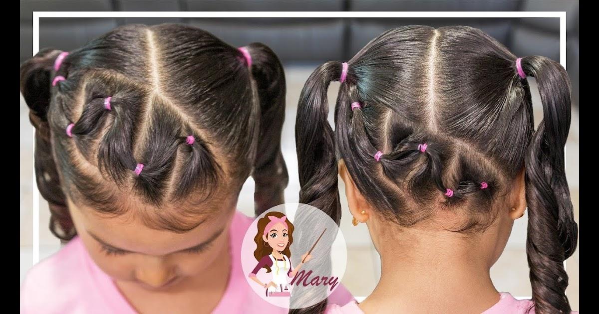 Instrucciones peinados niña Imagen de cortes de pelo Ideas - Pelo Corto Peinados Sencillos Para Niñas Con Ligas ...