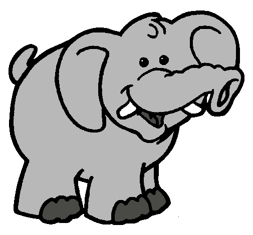 Dibujo De Elefante Pintado Por Maria 15 En Dibujos Net El Dia 22 08