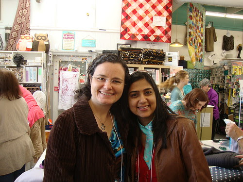 me and Deepika, founder of Pattern Review
