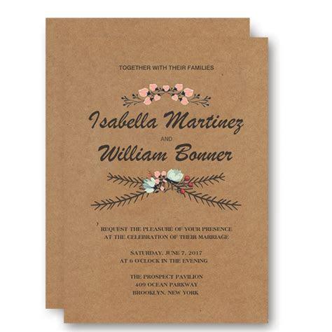 Cheap Rustic Floral Fall Wedding Invitation WIP043