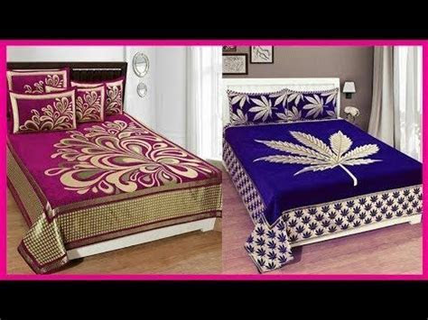 Top Beautiful Designers Bed Sheet Designs / Bridal Bed