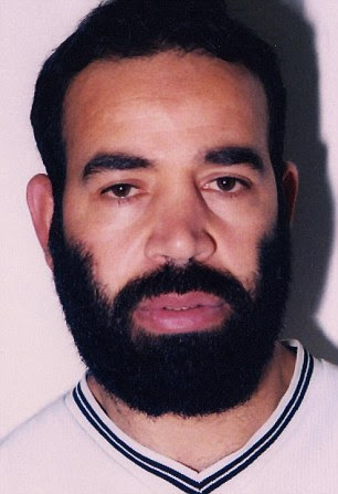 Convicted Al Qaeda fundraiser Baghdad Meziane, 49, (pictured) is fighting deportation back to Algeria under the Human Rights Act