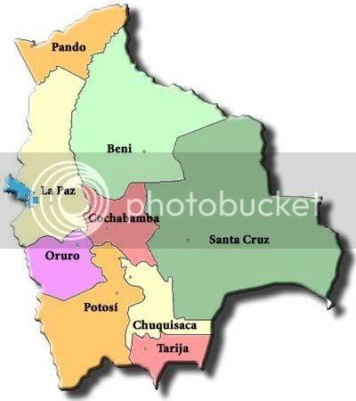 Mapa Bolívia