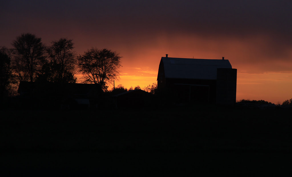 driveby barn   sunset