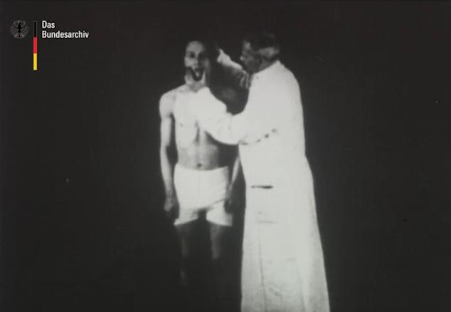 PRINT SCREEN: Dr. Nonne utilizando hipnose em um soldado com TEPT