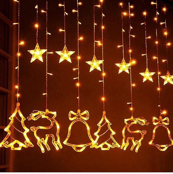 Xmas Tree Elk Star Light Merry Christmas Decor for Home Tree Christmas Decor Happy New Year 2021