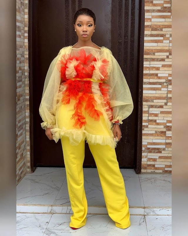 Check Out As Bam Bam Shines In This Beautiful Dress (Photos)