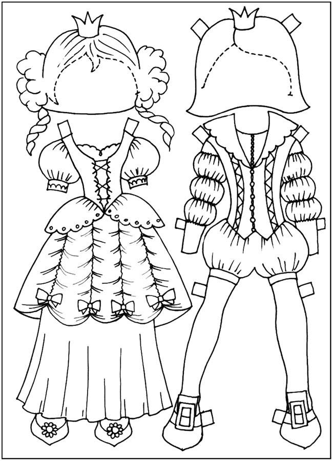 нетерпеливые куклы: нарисованная одежда и нарисованная ...