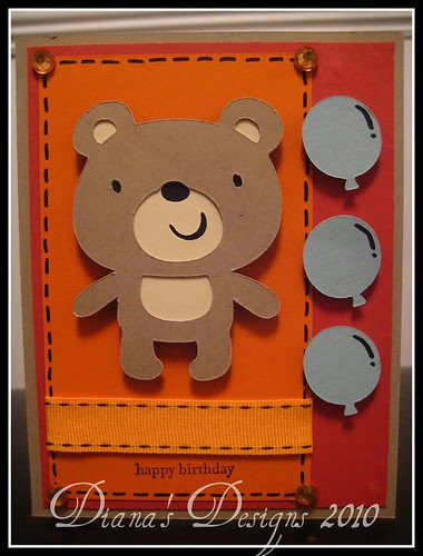 Create a Critter - Little Bear Birthday Card