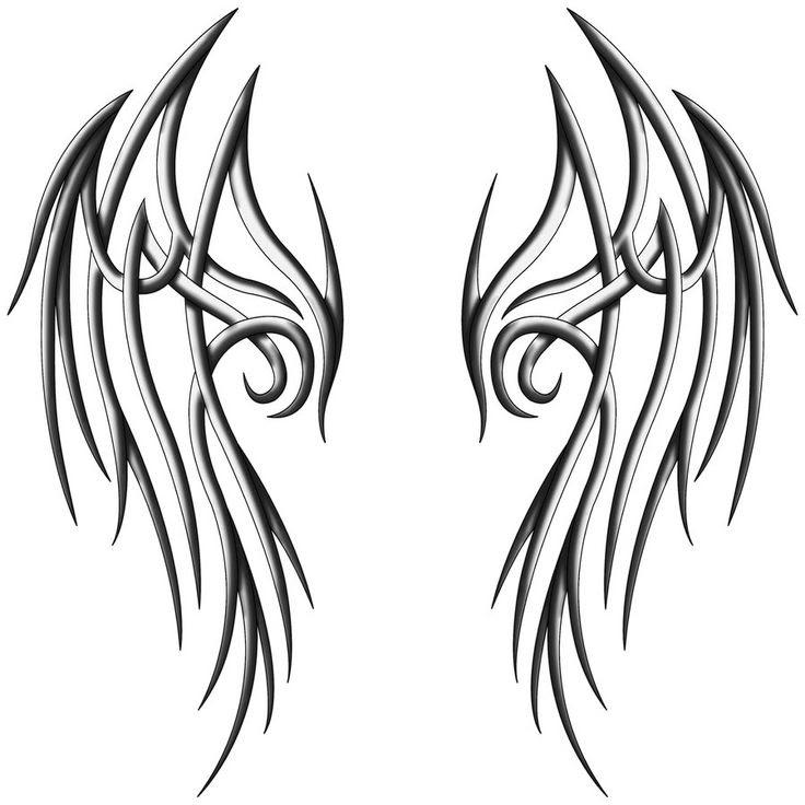 Simple Angel Wings Drawings Free Download Best Simple Angel Wings