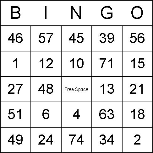 Large bingo boards