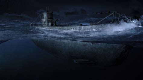 submarine   dark  night wallpapers  images