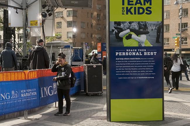 Fake NYC Marathon, Columbus Circle