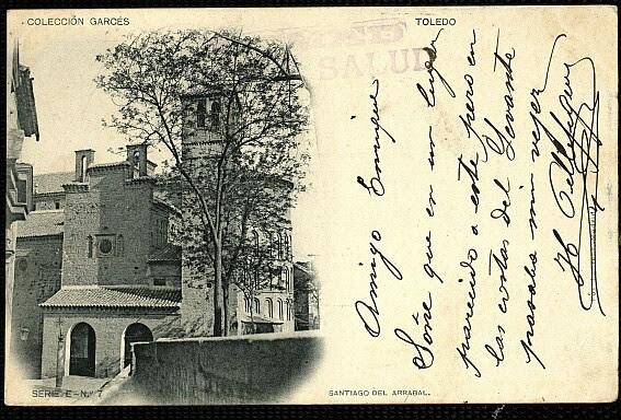 Iglesia de Santiago del Arrabal en el siglo XIX. Foto Jean Laurent