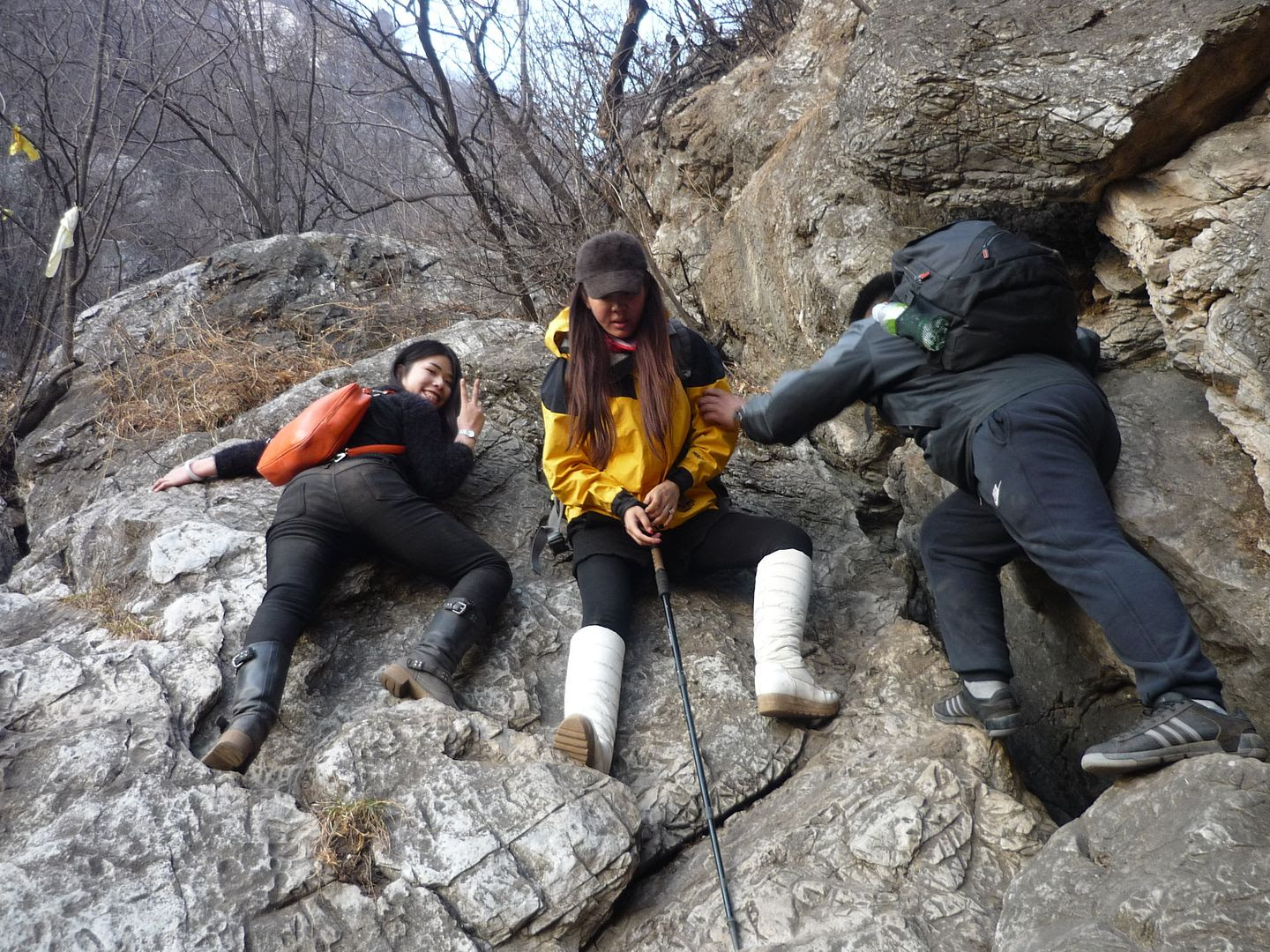 Beijing Friends Climbing During the Great Wall Hike photo 2014-03-08115041_zps81eff4c2.jpg