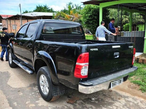 Carro foi identificado no município de Fonte Boa, interior do Amazonas (Foto: Divulgação/Polícia Civil)