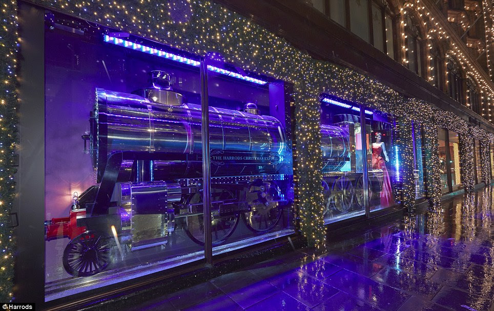 All aboard! Harrods, the luxury department store famed for its iconic Christmas window display, has unveiled 2013's offering