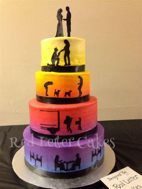 Sunset wedding cake #cake #weddings #buttercream #sunset #